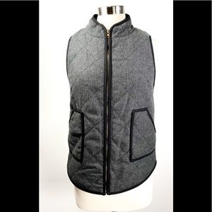 41 Hawthorn Quilted Charcoal Vest - S
